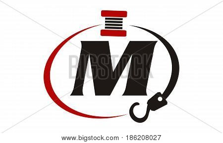 This image describe about Crane Hook Towing Letter M