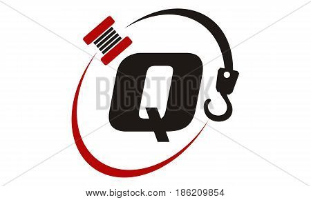 This image describe about Crane Hook Towing Letter Q