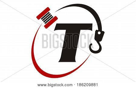 This image describe about Crane Hook Towing Letter T