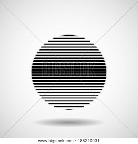 Abstract ball of stripes. Lines in circular form. Vector design element