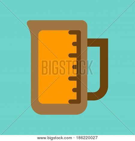 flat icon on stylish background coffee measuring cup