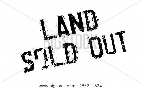 Land Sold Out rubber stamp. Grunge design with dust scratches. Effects can be easily removed for a clean, crisp look. Color is easily changed.