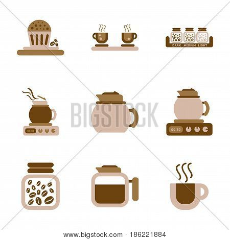 assembly of flat icons coffee cup Coffee Maker