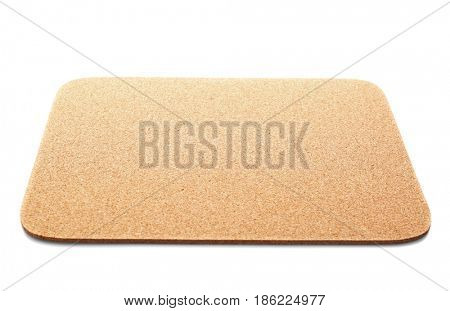 Blank mouse pad on white background