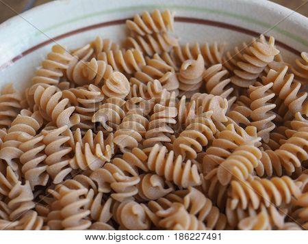 Fusilli Italian Pasta Background