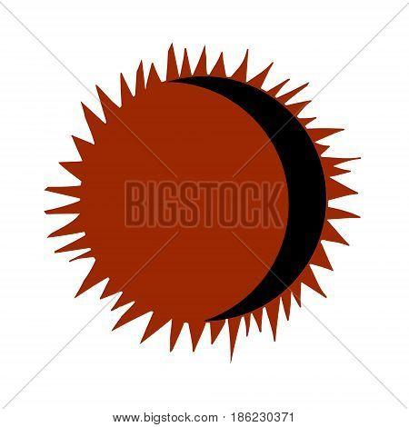 Solar eclipse, vector. Decorative element for design. Vector illustration