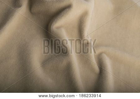 Smooth Velour Beige Fabric, Velvet Textile Effect