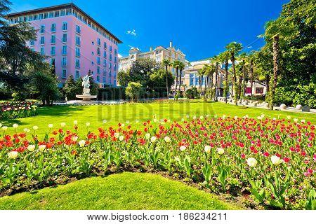 Mediterranean Park In Town Of Opatija