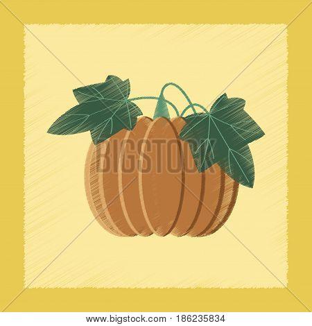 flat shading style Illustrations of plant Cucurbita