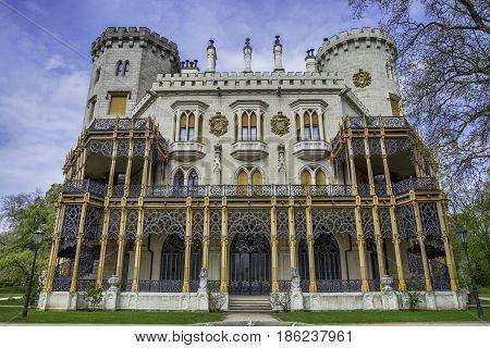 Hluboka castle in Czech Republic in Europe