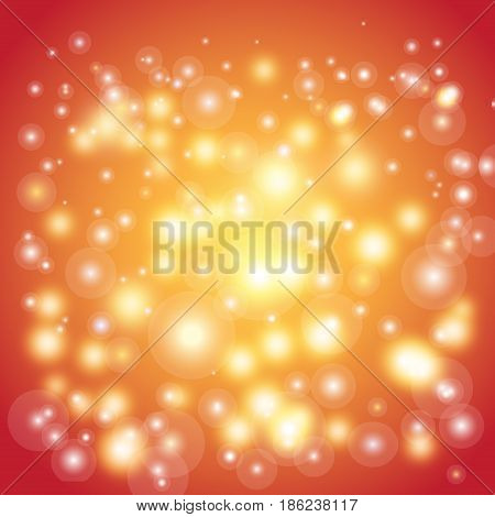 Vector shimmering mysterious background with luminous circles