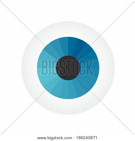 Eyeball on white background. Vector illustration. Coloured image.