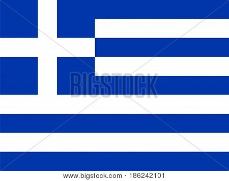Flag of Greece, vector illustration National symbol