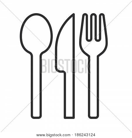 knife; spoon; fork; food; menu; restaurant; icon; line; stroke; outline; linear; vector; logo; pictogram; flat; symbol; sign; web; illustration; simple; editable; silverware