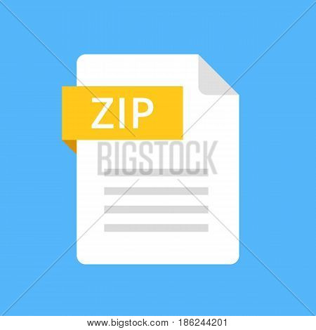 Zip file icon. Modern flat design graphic illustration. Vector zip icon