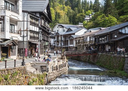Ginzan Onsen traditional village in Japan's Yamagata prefecture