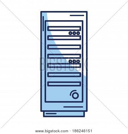 server tower isolated icon vector illustration design