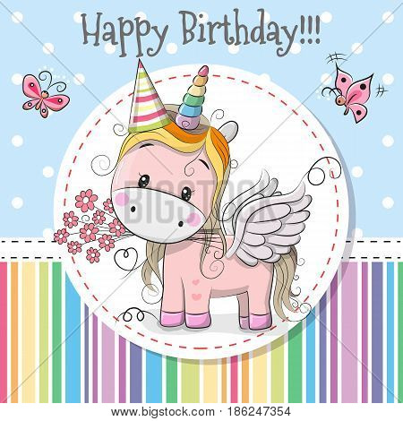 Greeting Card Cute Unicorn