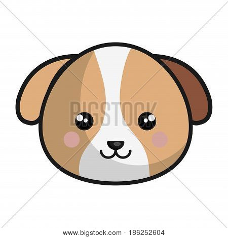 cute and tender dog kawaii style vector illustration design