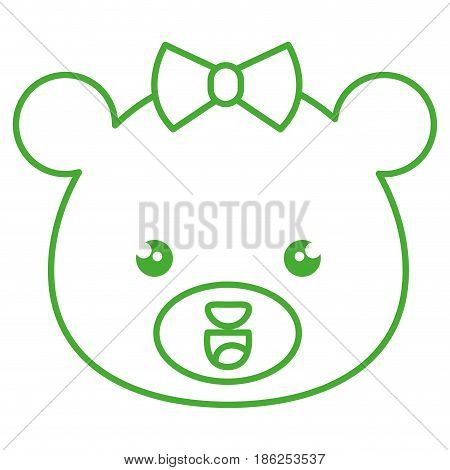 cute and tender bear female kawaii style vector illustration design