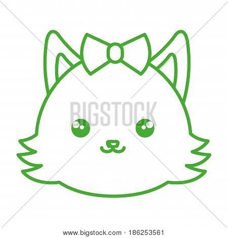 cute and tender female fox kawaii style vector illustration design