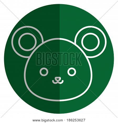 cute and tender mouse kawaii style vector illustration design