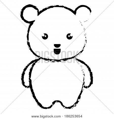 cute and tender bear kawaii style vector illustration design