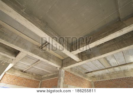 construction site building with cement material structure