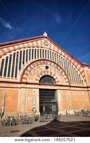 Tortosa, medieval town on Ebro river, tourist destination in Catalonia. Market detail
