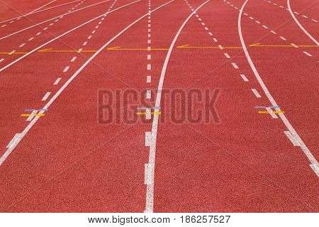 All weather running track Rubberized artificial surface