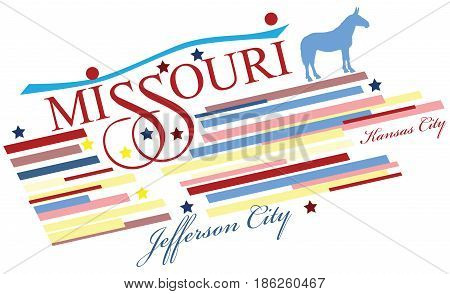 Creative banner for Missouri the US state. Vector illustration.