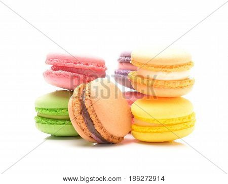tasty cookies macaroon isolated on a white background