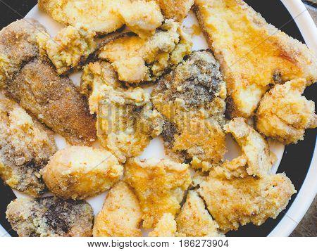 Fried Porcini Mushrooms, Faded Vintage Look