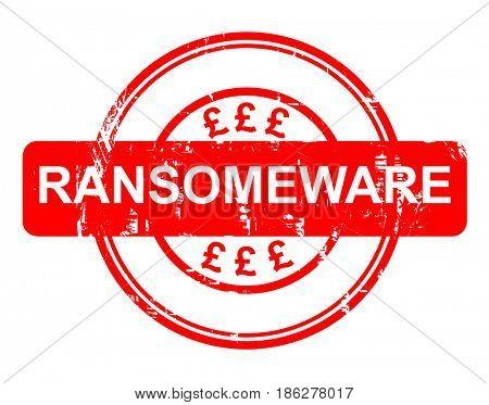 Ransomeware icon on white