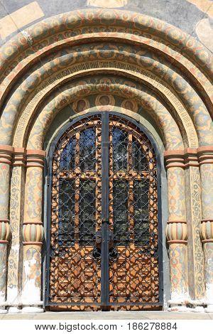 Details Door Of Orthodox Church