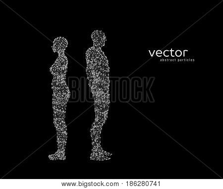 Abstract vector illustration of couple near to each other.