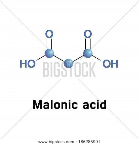 Malonic acid.The ionized form of malonic acid, as well as its esters and salts, are known as malonates.