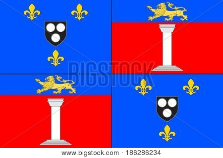 Flag of Antony is a subprefecture of the Hauts-de-Seine department and the seat of the arrondissement of Antony France. Vector illustration