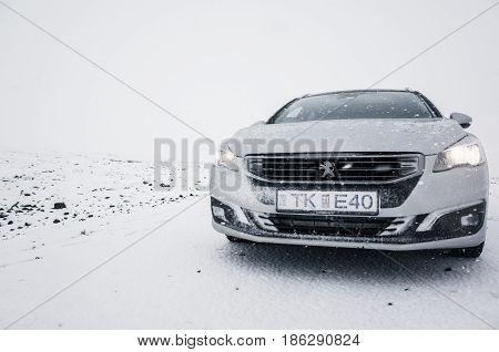 Silver Gray Peugeot 508 Sw