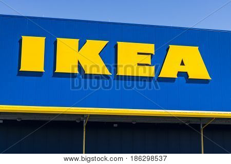 Fishers - Circa May 2017: IKEA Home Furnishings Store. Founded in Sweden IKEA is the world's largest furniture retailer V
