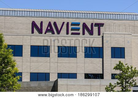 Fishers - Circa May 2017: Navient Corporation Indianapolis Location. After the split from Sallie Mae Navient services and collects on student loans II