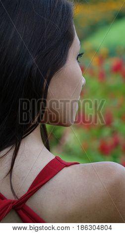 A Portrait of a Pretty Girl Alone