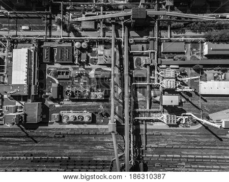 Steel Factory. Metallurgical Plant. Steelworks, Iron Works. Heavy Industry In Europe. Air Pollution