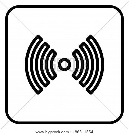 A wireless network icon on a white background.