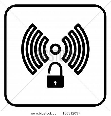 A wireless network sign with open access.