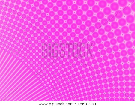 Fractal image of the formation of pink bubbles. poster