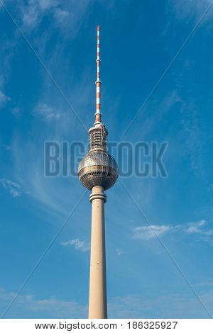 The famous TV Tower in Berlin, Germany