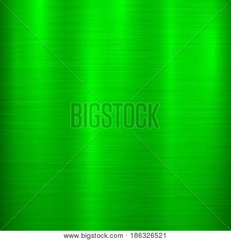 Green metal technology background with abstract polished, brushed texture, chrome, silver, steel, aluminum for design concepts, wallpapers, web, prints, posters, interfaces. Vector illustration.