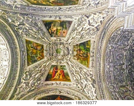 Salzburg, Austria - May 01, 2017: Interior of Salzburg Cathedral - details on May 01, 2017 in Salzburg, Austria