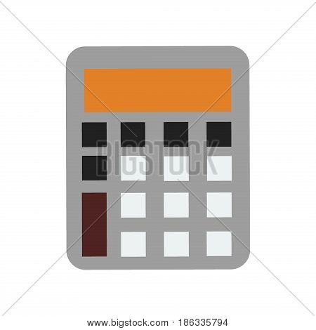 Mathematics business calculator technology vector icon electronic financial display sign design school Graphic count balance digital keyboard computer element illustration.